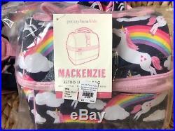 New Pottery Barn Kids Rainbow Unicorn Large Backpack Retro Lunch Box Bag No Mono