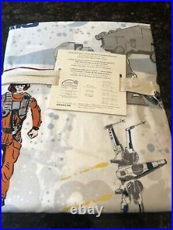 New Pottery Barn Kids Star Wars The Last Jedi Organic Cotton Queen Sheet Set