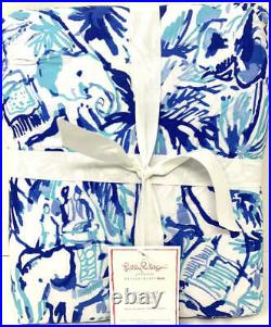 NewPottery Barn Lilly Pulitzer Elephant Appeal Duvet CoverKING