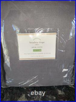 NewSet of 2Pottery BarnBroadway Curtains Drapes PanelsFog Gray50x108