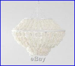 Newithperfect Pottery Barn Kids Sammy ivory shell pendant chandelier beach