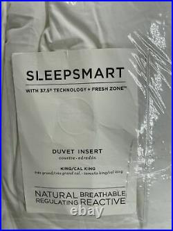 PB Sleepsmart Temperature Regulating Down-Alternative Duvet Insert, King/Cal. K