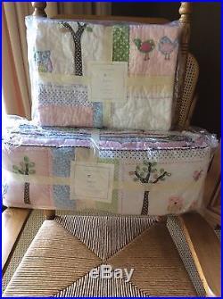 POTTERY BARN KIDS HAYLEY 5-PC NURSERY SET Quilt, Sham, Bumper, Sheet, Skirt NEW