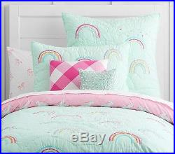 POTTERY BARN KIDS Molly Rainbow Twin Quilt & Sham Rainbow Twin Sheet 5pc Set NEW