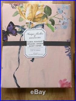 POTTERY BARN KIDS Monique Lhuillier Floral Bouquet DUVET COVER FULL-QUEEN &Shams