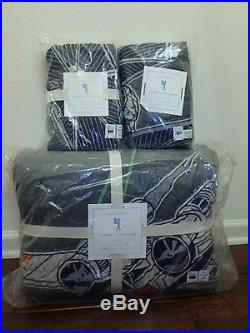 Pottery Barn Kids Star Wars X Wing Fighter Quilt Full Queen & 2 Euro Shams New