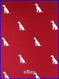 POTTERY BARN KIDS organic dog queen duvet cover shams 3pc red white