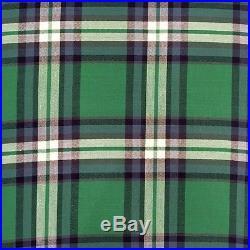 POTTERY BARN KIDS organic plaid queen duvet cover shams 3pc blue, green