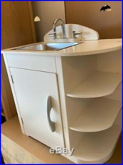POTTERY BARN kids Retro Kitchen Sink Simply White