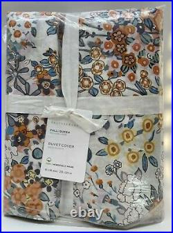 Pottery Barn Amelia Floral Organic Duvet Cover, Multi, Full/Queen, Free Shipping