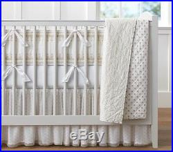 Pottery Barn Baby Gold Dot Crib Bedding- Crib Skirt And Quilt