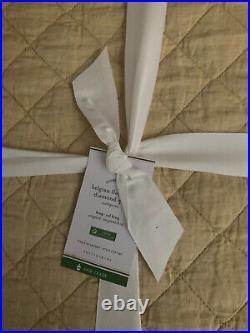 Pottery Barn Belgian Flax Linen Diamond King/cal King Quilt Daffodil New