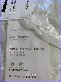 Pottery Barn Belgian Flax Linen, Full/Queen Duvet Cover + 2 Matching Euro Shams