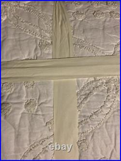 Pottery Barn Candlewick King Quilt White New