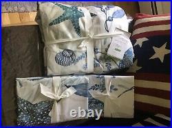 Pottery Barn Catalina Coastal Organic, Full/queen Duvet Cover, 2 Standard Shams
