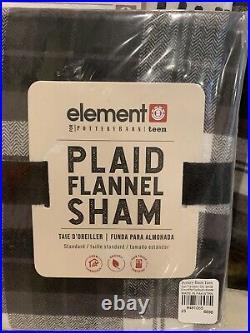 Pottery Barn Element Plaid Flannel FULL QUEEN Duvet Full Sheet Set Christmas New