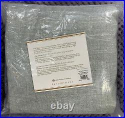 Pottery Barn Emery Linen/Cotton Rod Pocket Curtain, 50 x 96, Blue Dawn Color