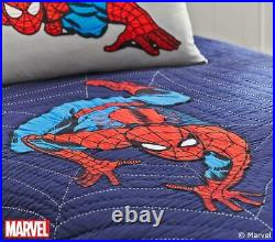 Pottery Barn F/Q Full Queen SPIDERMAN Quilt ONLY Marvel Superhero, Lightly Used