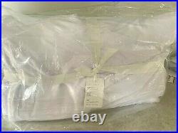 Pottery Barn Faux fur COZY blanket WHITE king soft throw