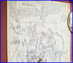 Pottery Barn Harry Potter Hogwarts Map Canvas Art Brand New 53 x 75