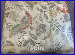 Pottery Barn Jolly Bird Printed Reversible Percale Comforter, Full/Queen Size