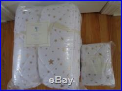 Pottery Barn KIDS SPARKLE STAR QUILT With SHAM-TWIN SIZE-NEW With TAGS