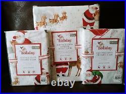 Pottery Barn Kid Heritage Santa Full Queen Duvet Cover Standard Sham Christmas