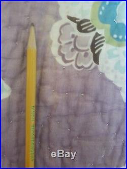 Pottery Barn Kids 2 Pc Brooklyn Full/Queen Quilt Sham Purple Blue Reversible