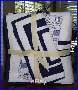 Pottery Barn Kids 3 Pc Set Bedding Baby Harper Quilt Crib Sheet & Sham NWT Baby