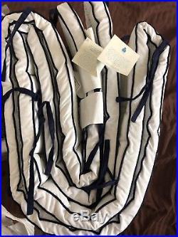 Pottery Barn Kids 5pc Prescott Crib Bedding Quilt Skirt Sham Bumper Sheet