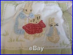 Pottery Barn Kids 6 pc Beatrix Potter PETER RABBIT Nursery Bedding Set