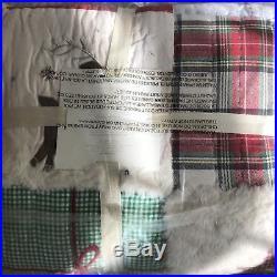 Pottery Barn Kids 7-pc Jolly Santa FQ Quilt 2 EURO Shams & FULL RED Sheets Set