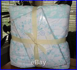 Pottery Barn Kids Alicia Baby Bedding 2 Pc Set Toddler Quilt & Crib Fitted NWT