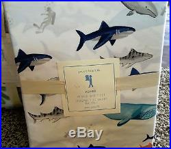 Pottery Barn Kids Asher surf patch whale FULL quilt shams sheet set patchwork