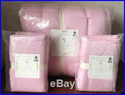 Pottery Barn Kids Audrey Full / Queen Quilt & 2 Standard ShamsLight Pink