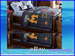 Pottery Barn Kids Austin Sports Twin quilt, sheet & sham set