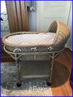 Pottery Barn Kids Baby Bassinet With Bedding