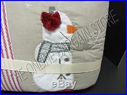 Pottery Barn Kids Baby Nursery Tis Season Christmas Crib Bumper & Bed Skirt