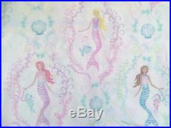Pottery Barn Kids Bailey Mermaid sea shell sheet set Queen blue Lavender