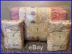 Pottery Barn Kids Bailey ruffle Mermaid FULL QUEEN quilt 2 std shams coral pink