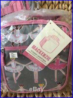 Pottery Barn Kids Ballerina Large Backpack Thermos Large Water Bottle Lunch Box