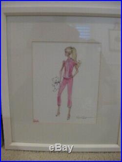 Pottery Barn Kids Barbie Framed Artwork Set Robert Best HTF