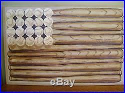 Pottery Barn Kids Baseball Bat American Flag Wall Art NEW