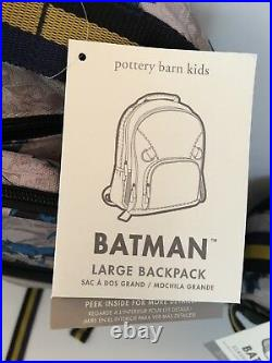 Pottery Barn Kids Batman Large Backpack Lunch Box Water Bottle Hot/Cold NEW NWT