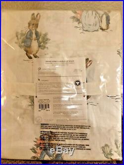 Pottery Barn Kids Beatrix Potter Peter Rabbit QUEEN Organic Sheet SetEasterNWT