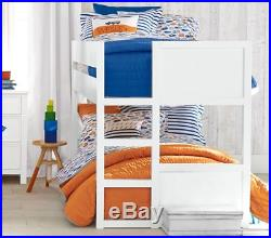 Pottery Barn Kids Branson Reversible F/Q Quilt & 2 Standard Shams Orange / Gray