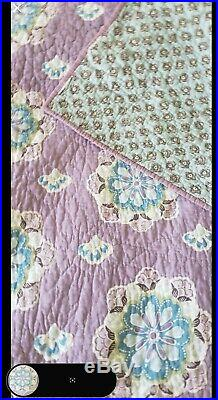 Pottery Barn Kids Brooklyn Purple Twin Quilt & Sham