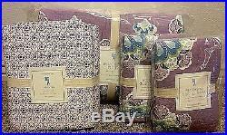 Pottery Barn Kids Brooklyn floral QUEEN quilt shams sheet set purple lavender