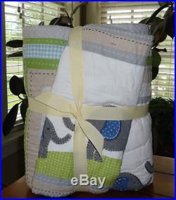 Pottery Barn Kids Brooks Baby Bedding 4 Pc Set Quilt Bumper Crib Skirt Sham NWT
