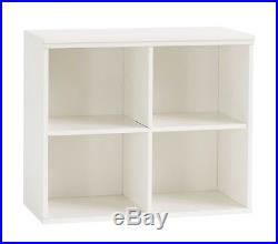 Pottery Barn Kids Cameron Wall System 4 Square Cubby Simply White (BRAND NEW)